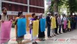 রাবিতে 'এগারজন' এর মানববন্ধন
