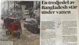 সুইডেনের জাতীয় দৈনিকে বাংলাদেশের বন্যা পরিস্থিতি নিয়ে শিরোনাম- 'বাংলাদেশের এক তৃতীয়াংশ পানির নিচে'