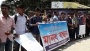 কলেজ শিক্ষকের ওপর হামলাকারীদের গ্রেফতারের দাবিতে শিক্ষার্থীদের মানববন্ধন