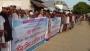 দিরাইয়ে আওয়ামী লীগ নেতাকে প্রাণনাশের হুমকির প্রতিবাদে মানববন্ধন