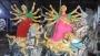 দেবী দুর্গার অনিন্দ্যসুন্দর রূপ দিতে চলছে প্রতিমা তৈরির কাজ